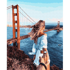 Следуй за мной. Сан-Франциско Раскраска картина по номерам на холсте GX23627