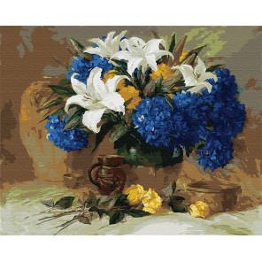 Натюрморт с лилиями Раскраска картина по номерам на холсте GX5153