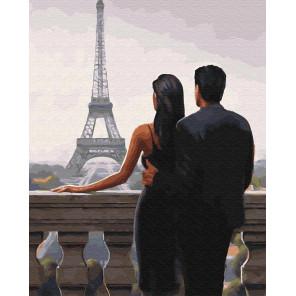 Двое влюбленных во Франции Раскраска картина по номерам на холсте GX30669