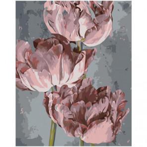 Три пиона 100х125 Раскраска картина по номерам на холсте