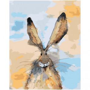 Ушастый заяц 80х100 Раскраска картина по номерам на холсте