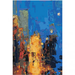 Абстракция девушка с зонтом 100х150 Раскраска картина по номерам на холсте