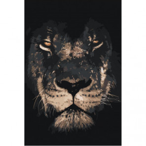 Лев в тени 100х150 Раскраска картина по номерам на холсте