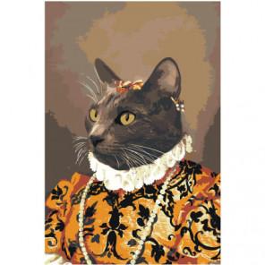 Кот в средневековом костюме Раскраска картина по номерам на холсте