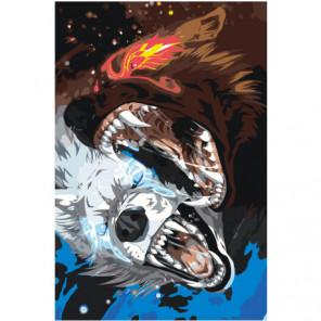 Волки Хати и Сколль Раскраска картина по номерам на холсте