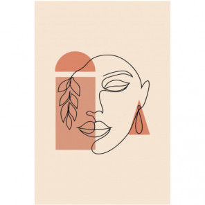 Лицо женщины абстракция 100х150 Раскраска картина по номерам на холсте