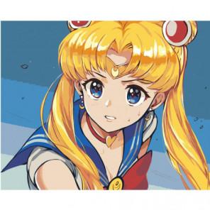 Сейлор Мун Sailor Moon Anime 80х100 Раскраска картина по номерам на холсте