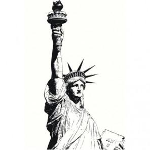Статуя Свободы, Нью-Йорк, США 100х150 Раскраска картина по номерам на холсте