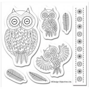 Совы Owl Folk Штампы для скрапбукинга, кардмейкинга Docrafts
