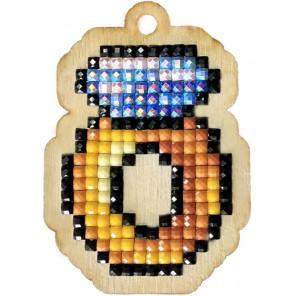 Кольцо с бриллиантом Алмазная мозаика подвеска Гранни Wood W0429