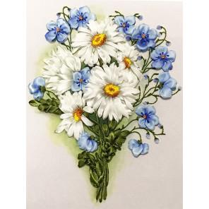 Нежный букет Набор для вышивки лентами Каролинка КЛ(Н)-4019