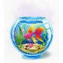 Взгляд золотой рыбки Канва с рисунком для вышивки МП Студия