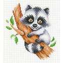 Крошка енот Канва с рисунком для вышивки МП Студия