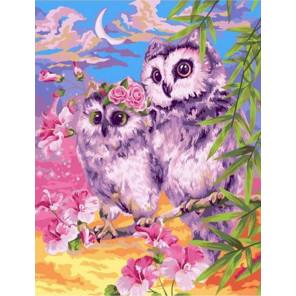 Совы на охоте Раскраска картина по номерам на холсте GX39088