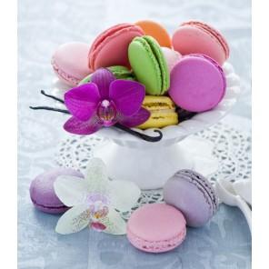 Печенье к чаю Алмазная частичная вышивка (мозаика) Color Kit