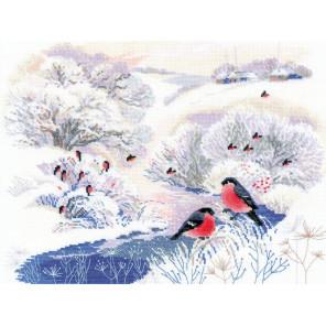 Зимняя речка Набор для вышивания Риолис 1937