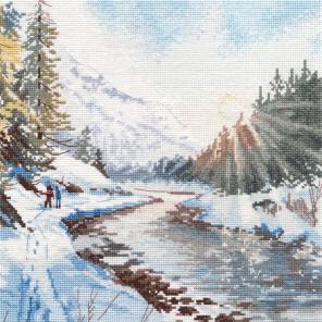 Морозная свежесть Набор для вышивания Овен 1387