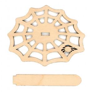 Паутинка Деревянная подставка для вышивки на пластиковой канве РА-035