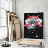 Пример в интерьере Иноске Хашибира. Аниме Истребители демонов 60х80 см Раскраска картина по номерам на холсте с неоновыми краск