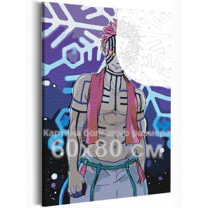 Аказа. Аниме Демоны 60х80 см Раскраска картина по номерам на холсте с неоновыми красками AAAA-ANI026-60x80