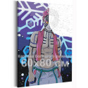 Аказа. Аниме Демоны 60х80 см Раскраска картина по номерам на холсте с неоновыми красками