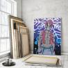 Пример в интерьере Аказа. Аниме Демоны 60х80 см Раскраска картина по номерам на холсте с неоновыми красками AAAA-ANI026-60x80