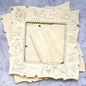 Карта большая Рамка деревянная для вышивки