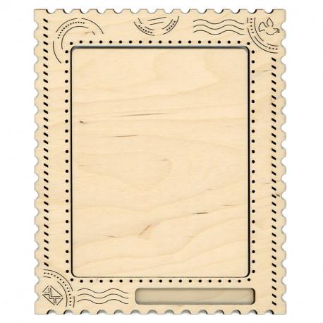 Открытка средняя Рамка деревянная для вышивки ОР-110
