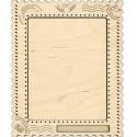 Открытка большая Рамка деревянная для вышивки