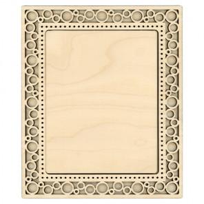 Круги средняя Рамка ажурная деревянная для вышивки ОР-129