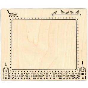 Город 2 большая Рамка деревянная для вышивки ОР-147