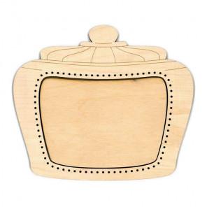 Банка 2 малая Рамка деревянная для вышивки ОР-148
