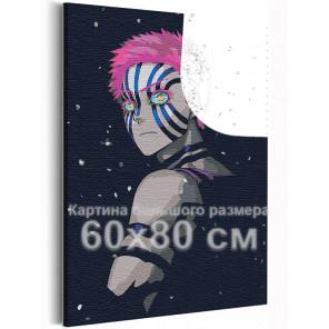 Аказа, ночь / Аниме Истребители демонов 60х80 см Раскраска картина по номерам на холсте с неоновыми красками AAAA-ANI032-60x80