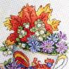 Пример вышитой работы Настойка осени Набор для вышивания МП Студия М-604
