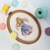 Пример вышитой работы Принцесса Набор для вышивания МП Студия М-607