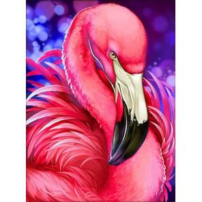 Яркий фламинго Алмазная вышивка мозаика АЖ-1869
