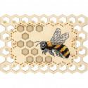 Пчела. Органайзер Набор для вышивания на деревянной основе МП Студия