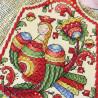 Пример вышитой работы Птица счастья Набор для вышивания на деревянной основе МП Студия О-009
