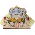 Гном. Салфетница Набор для вышивания на деревянной основе МП Студия
