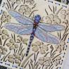 Пример вышитой работы Среди цветов Набор для вышивания на деревянной основе МП Студия О-016