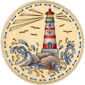 Дыхание океана Набор для вышивания на деревянной основе МП Студия О-020
