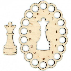 Шахматная королева Органайзер и бобина для ниток мулине ОР-058