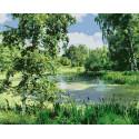 Лесное болото Раскраска картина по номерам на холсте