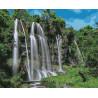 Водопад Раскраска картина по номерам на холсте U8110
