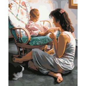 Мамина любовь Раскраска картина по номерам на холсте U8112