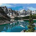 Горное озеро Раскраска картина по номерам на холсте