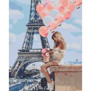 Романтика Парижа Раскраска картина по номерам на холсте U8035