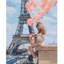 Романтика Парижа Раскраска картина по номерам на холсте