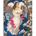 Рождественский ангел Раскраска картина по номерам на холсте