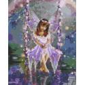 Маленькая фея Раскраска картина по номерам на холсте